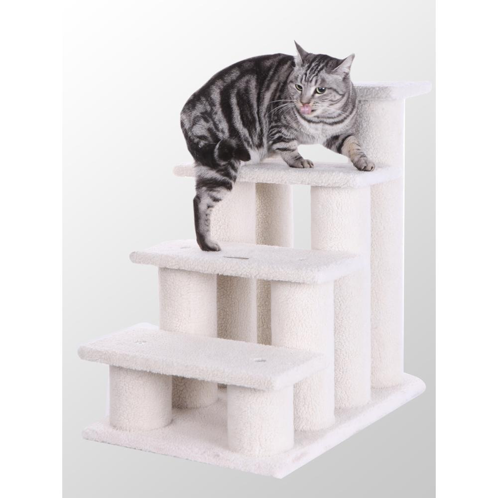 Armarkat Model B4001 Classic Pet Steps in Ivory, Jackson Galaxy Approved, Four Steps. Picture 1