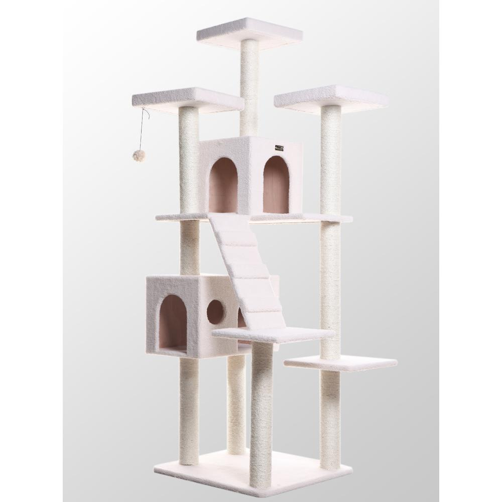 Armarkat Model B7701 Classic Cat Tree in Ivory, Jackson Galaxy Approved, Multi Levels with Ramp, Three Perches, Two Condos. Picture 1