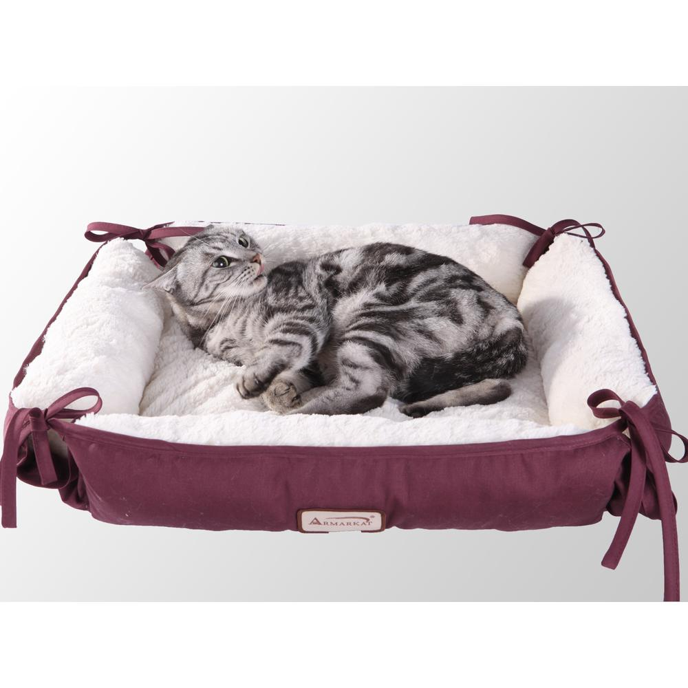 Armarkat Pet Bed Model C06HJH/MB      Burgundy. Picture 1