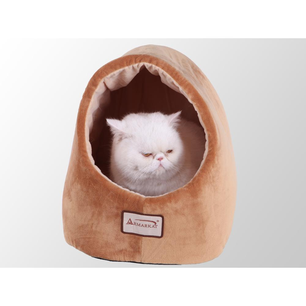 Armarkat Cat Bed Model C11CZS/MH       Brown & Ivory. Picture 1
