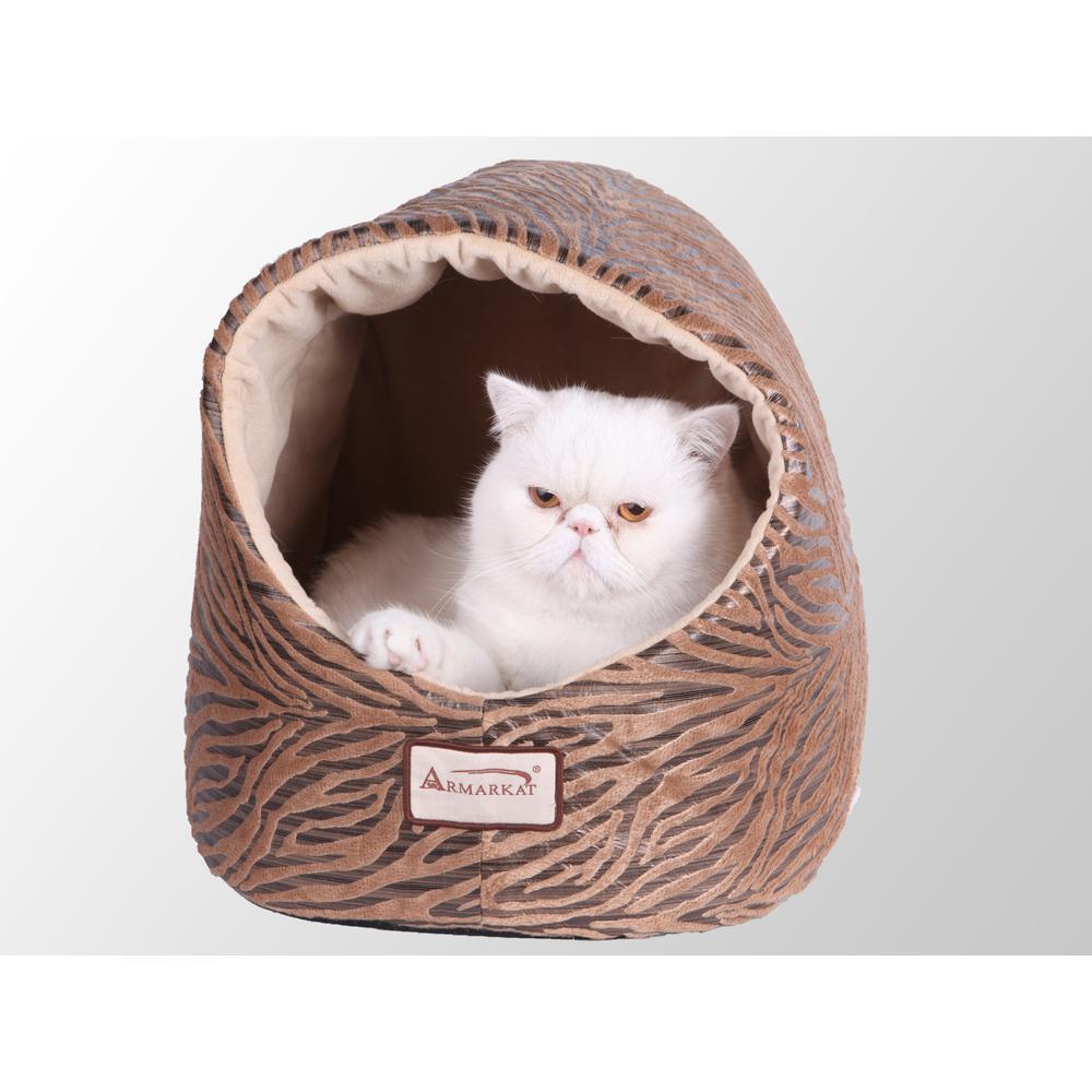 Armarkat Cat Bed Model C11HBW/MH        Bronze & Beige. Picture 1