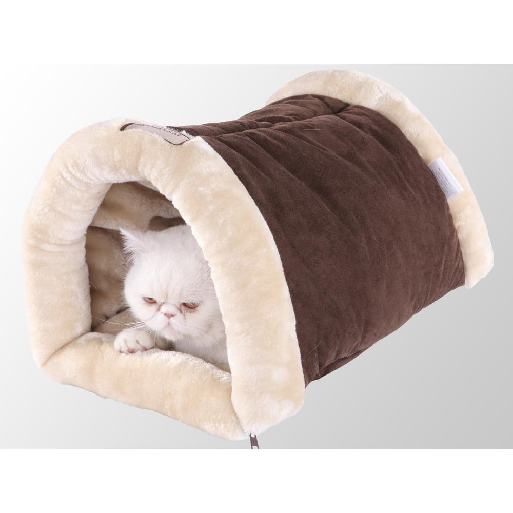 Armarkat Cat Bed/Pad Model C16HKF/MH  Mocha & Beige. Picture 1