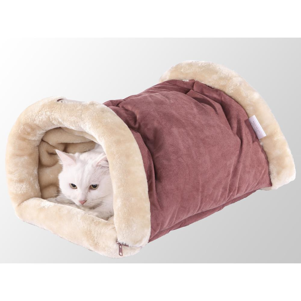 Armarkat Cat Bed/Pad Model C16HTH/MH            Indian Red & Beige. Picture 1