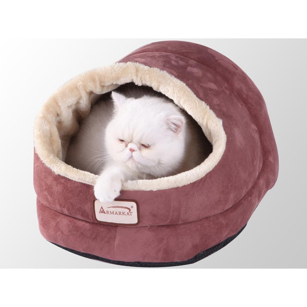 Armarkat Cat Bed Model C18HTH/MH      Indian Red. Picture 1