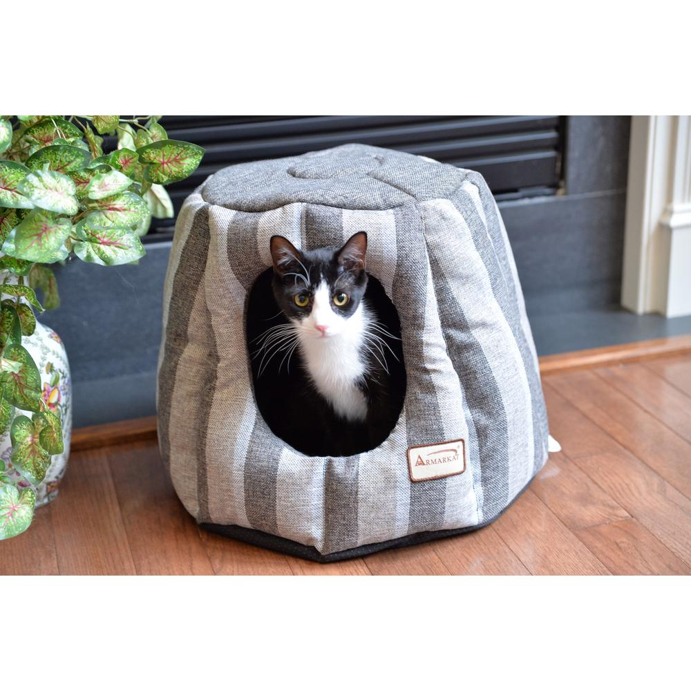 Armarkat Cat Bed Model C30CG,                 Gray and Silver. Picture 1