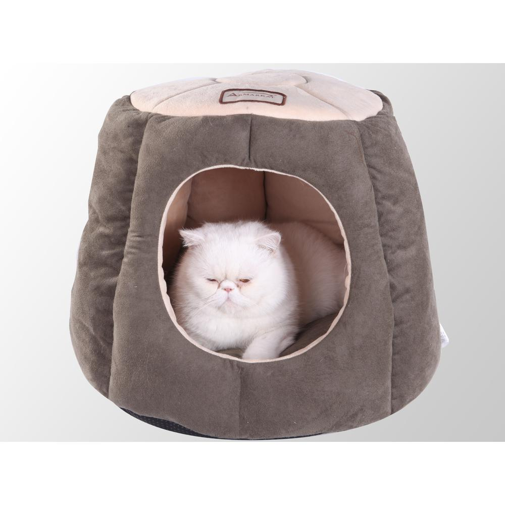 Armarkat Cat Bed Model C30HML/MH , Laurel Green and Beige. Picture 1