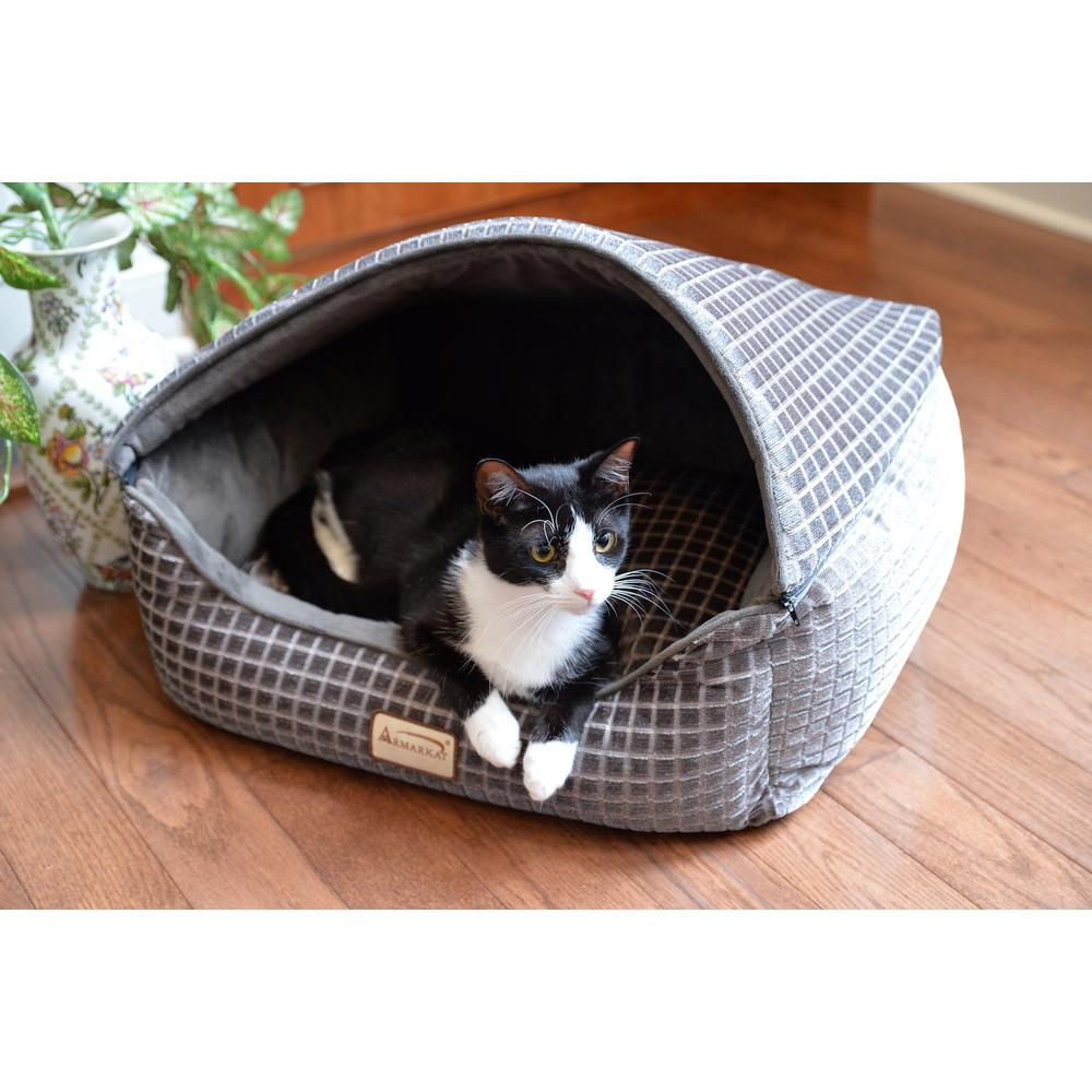 Armarkat Cat Bed Model C34HHG/SH, Bronze & Silver. Picture 1