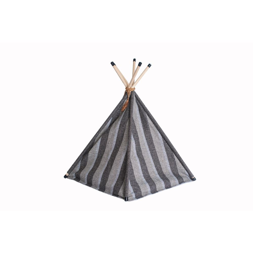 Armarkat Cat Bed Model C56HBS/SH, Teepee Style with Striped Pattern. Picture 5