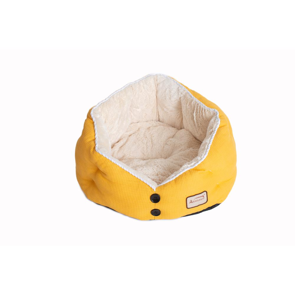 Armarkat Cat Bed Model C75HMB/MH Gold Waffle and White. Picture 1