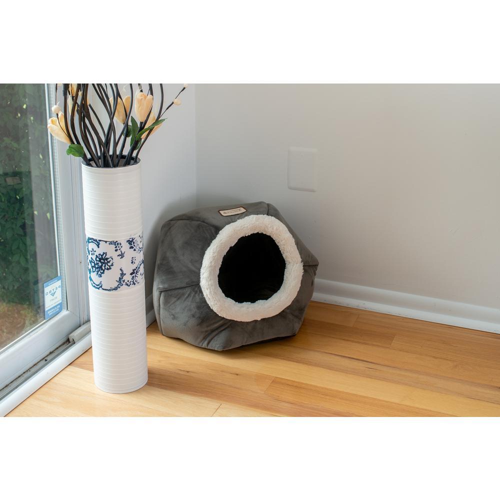 Armarkat Cat Bed Model C80CSH/MB Gray Velvet. Picture 2