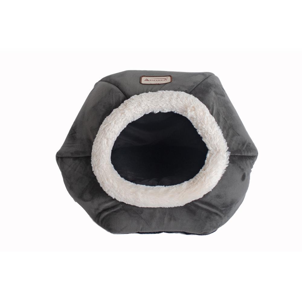 Armarkat Cat Bed Model C80CSH/MB Gray Velvet. Picture 1