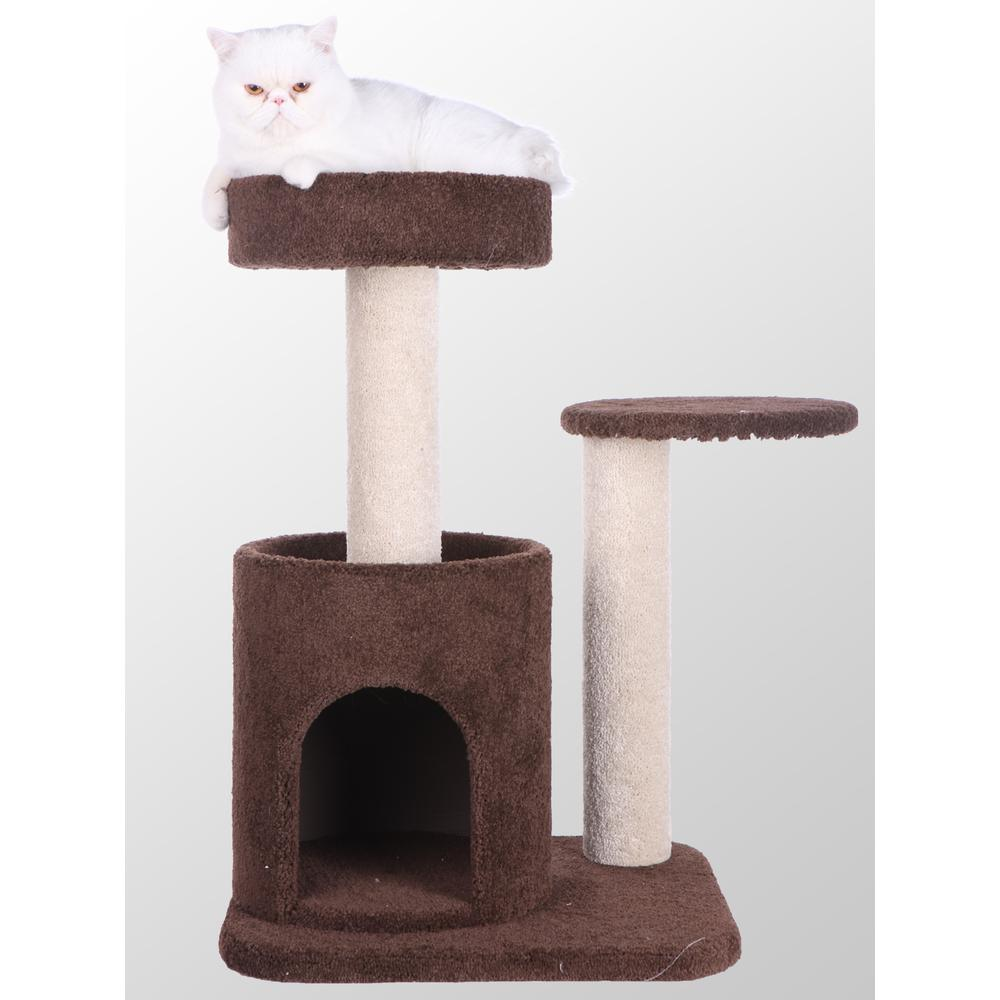 Armarkat Model F3005 Premium Carpeted Cat Tree, Jackson Galaxy Approved, Features Playhouse. Picture 1
