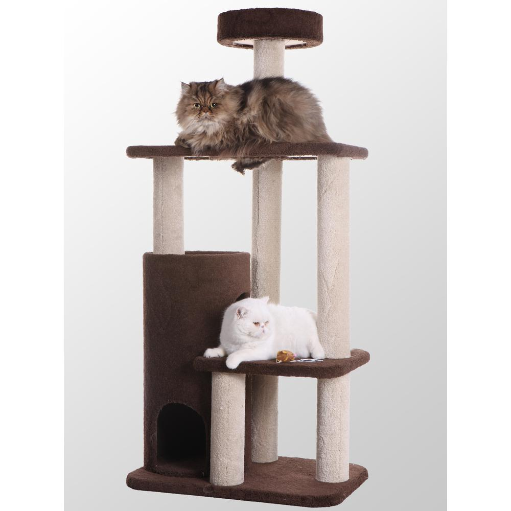 Armarkat Model F5602 Premium Carpeted Cat Tree, Jackson Galaxy Approved, Three Levels Plus Condo and Perch. Picture 1