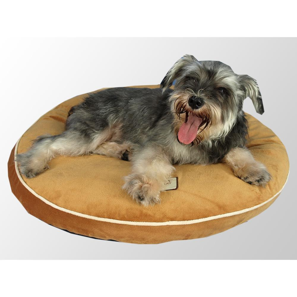 Armarkat M04CZS Pet Bed Pad with Poly Fill Cushion in Earth Brown. Picture 1