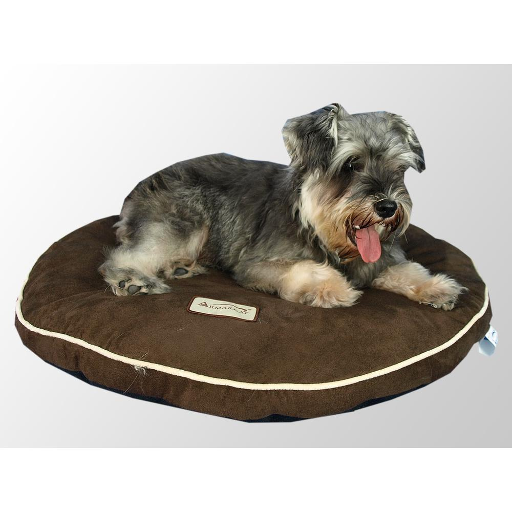 Armarkat Model M04JKF Pet Bed Pad with Poly Fill Cushion in Mocha. Picture 1