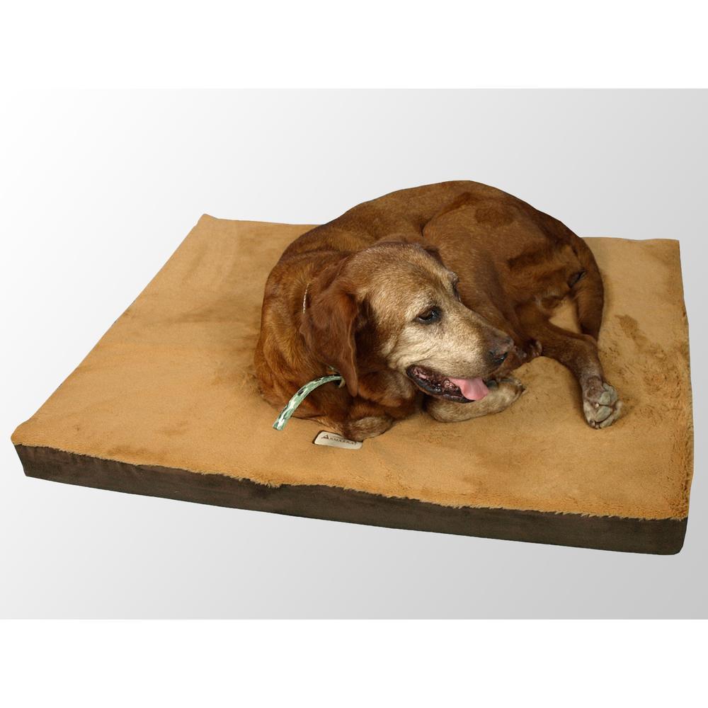 Armarkat Model M06HKF/ZS-S Small Memory Foam Orthopedic Pet Bed Mat in Mocha & Earth Brown. Picture 1