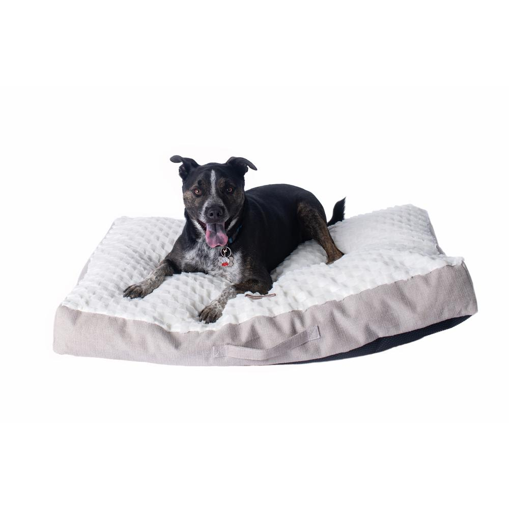 Armarkat Mat Model M12HMB/MB-L Large With Handle, Dog Crate Mat with Poly Fill Cushion & Removable Cover. Picture 3