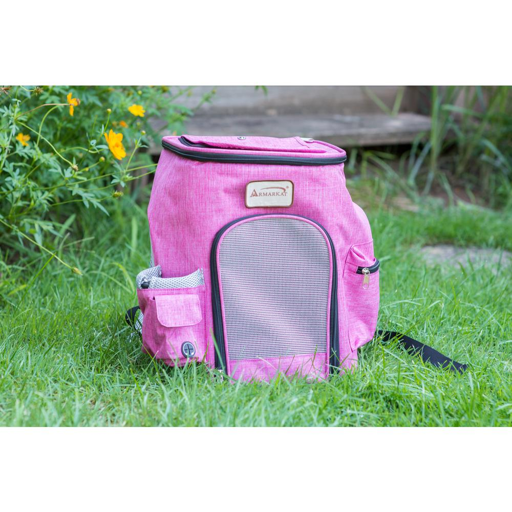 Armarkat Model PC301P Pawfect Pets Backpack Pet Carrier in Pink and Gray Combo. Picture 1