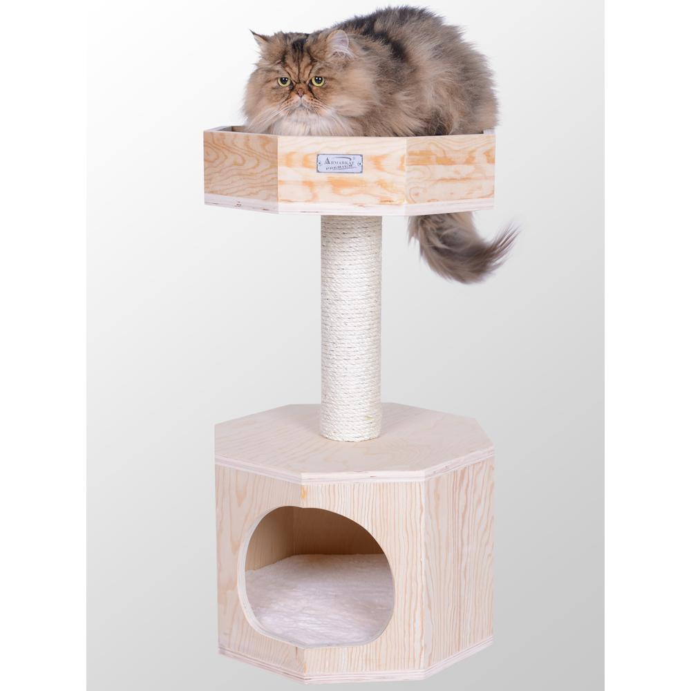 Armarkat Premium Scots Pine 29-Inch Cat Tree with Perch and Condo. Picture 1