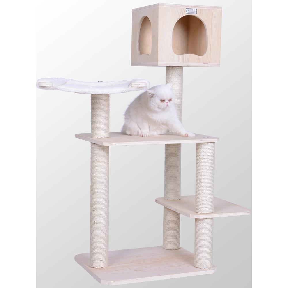 "Armarkat Model Premium Scots Pine, Solid Wood Cat Tree, 50"" Tall S5103. Picture 1"