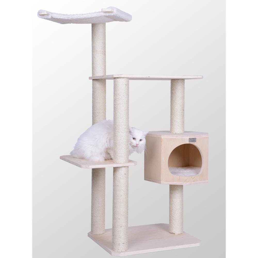 Armarkat Premium Scots Pine 54-Inch Cat Tree with Three Levels, Perch, Condo. The main picture.