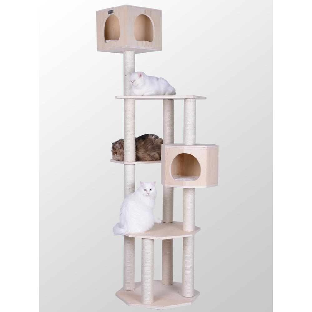 Armarkat Premium Scots Pine 85-Inch Cat Tree with Five Levels, Two Condos. Picture 1
