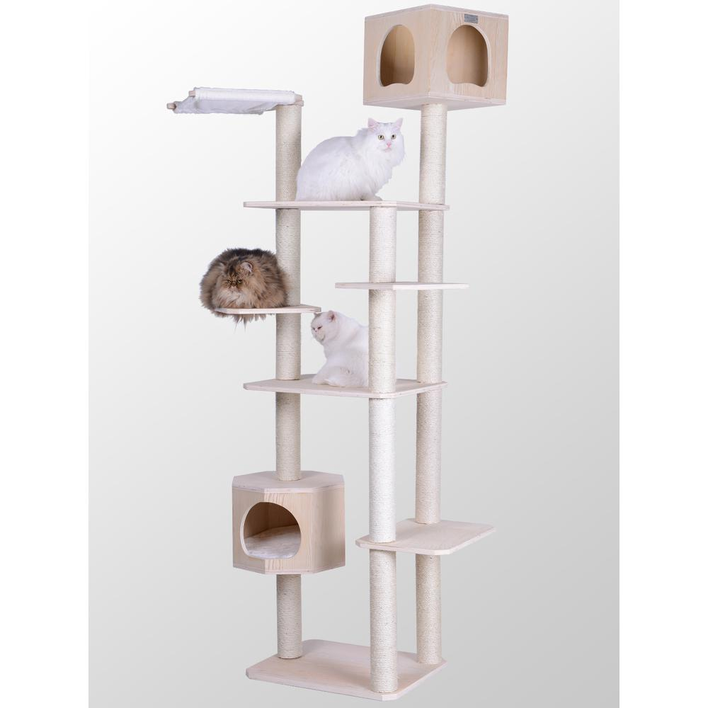 Armarkat Premium Scots Pine 89-Inch Cat Tree with Seven Levels, Two Playhouses. Picture 1