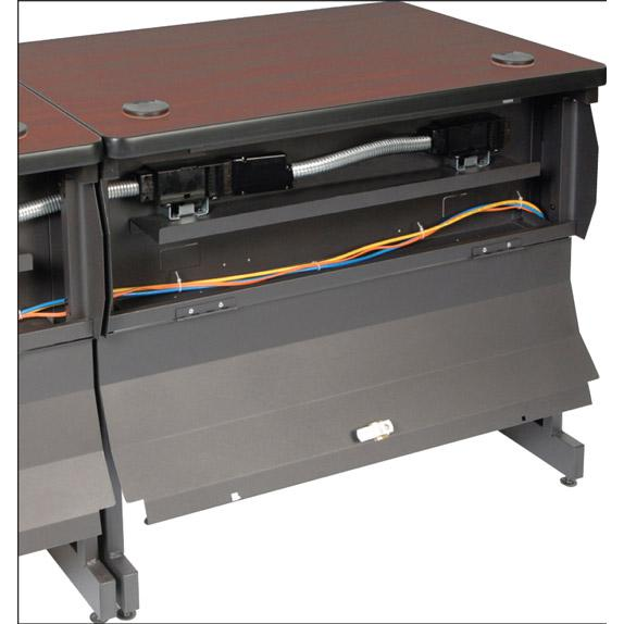 Pronto Mobile Training Table with Lockable Raceway, 36W x 24D. Picture 1