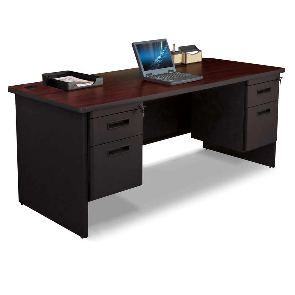 Pronto Pronto Double Pedestal Desk 72w X 30d Black