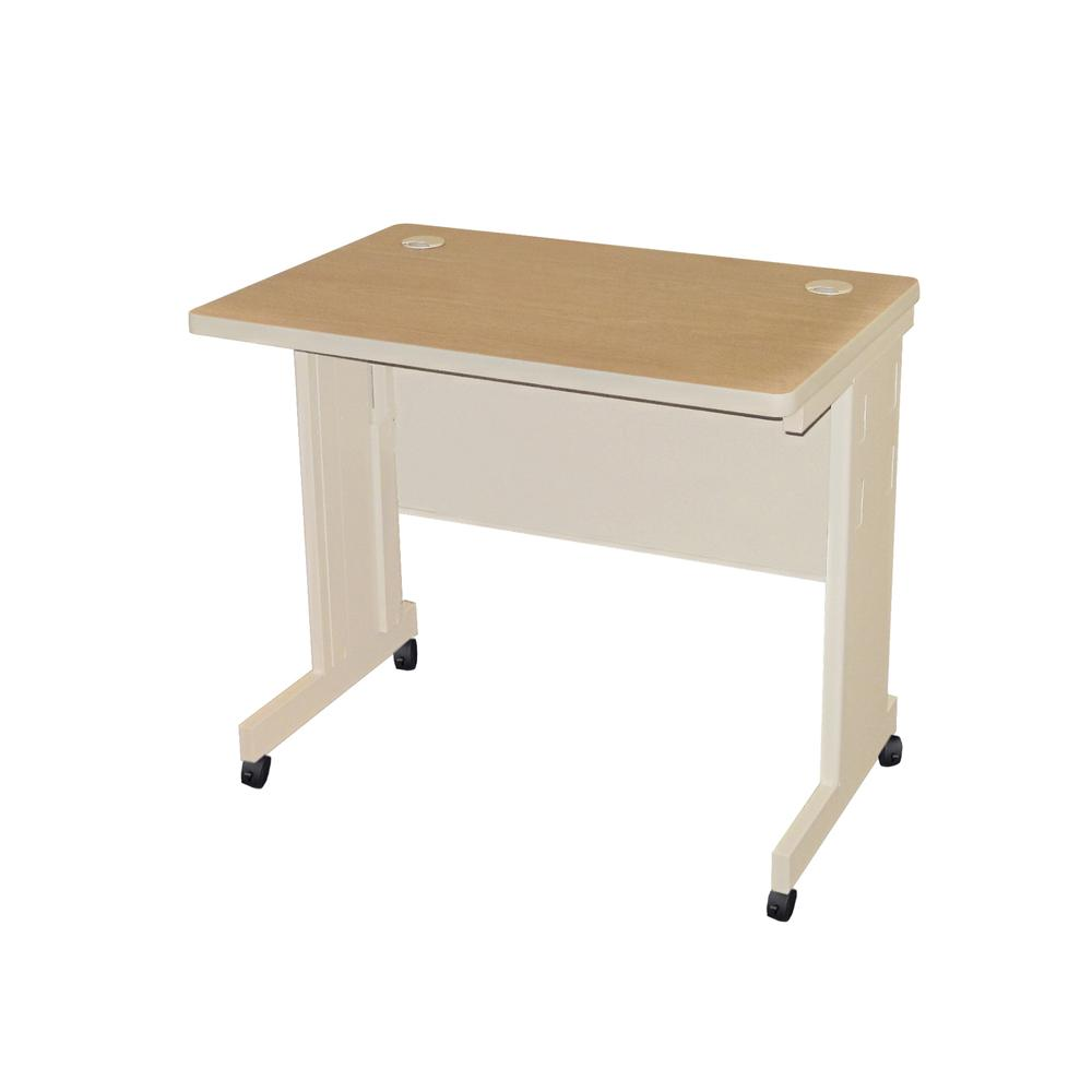 Pronto Mobile Training Table with Modesty Panel Back, 36W x 24D. Picture 1