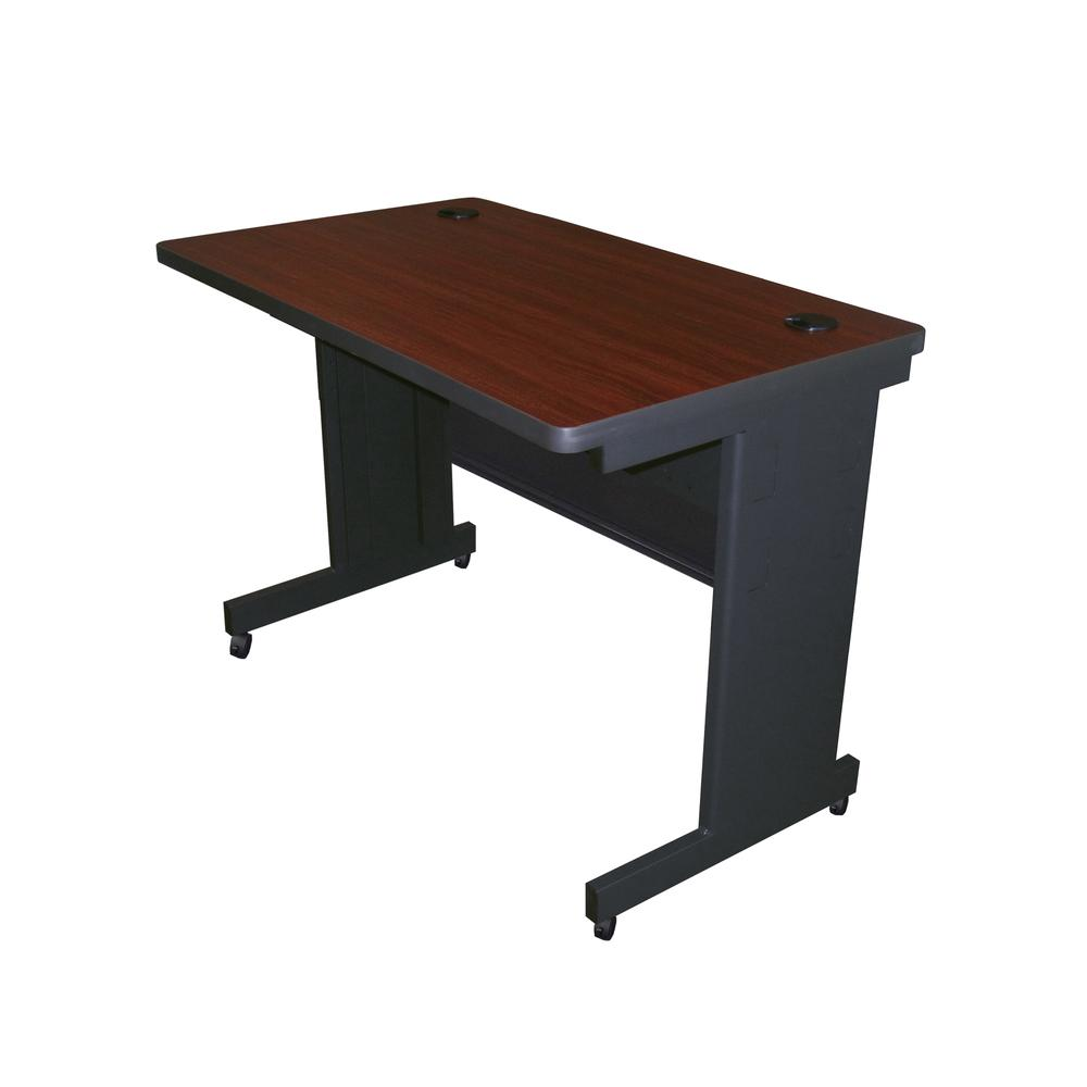 Pronto Mobile Training Table with Modesty Panel Back, 42W x 24D. Picture 1