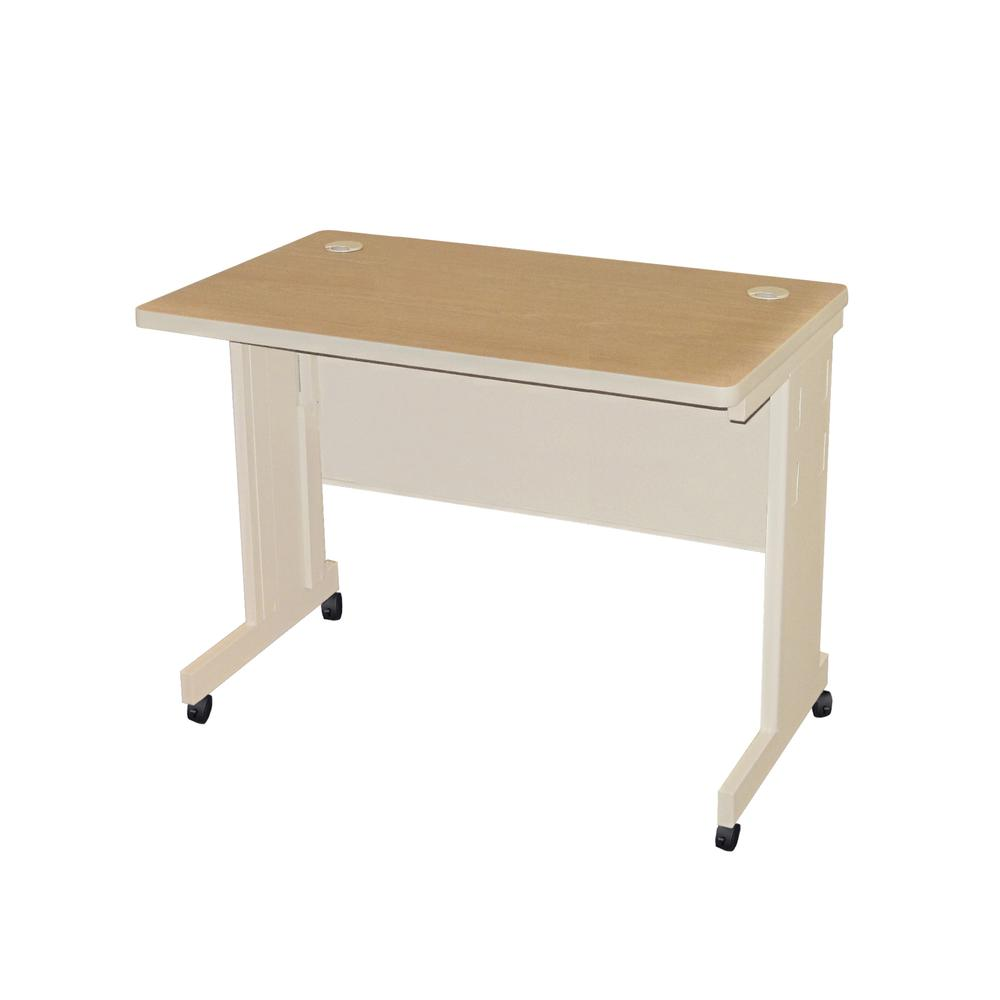 Pronto Mobile Training Table with Modesty Panel Back, 42W x 30D. Picture 1