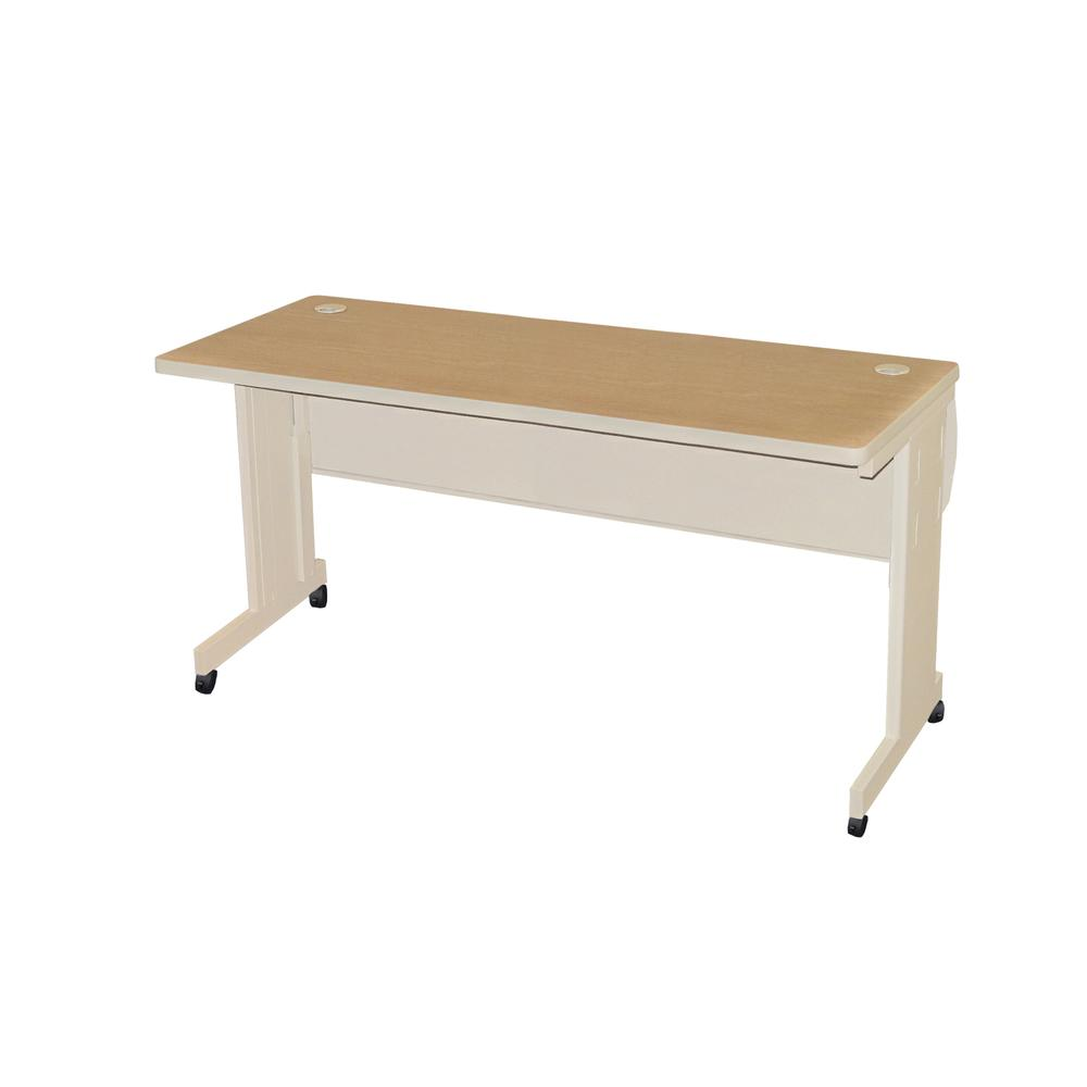 Pronto Mobile Training Table with Lockable Raceway, 72W x 24D. Picture 1