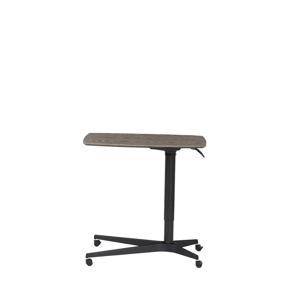 Grey 245 Mobile Lift Table with Black Base. Picture 2