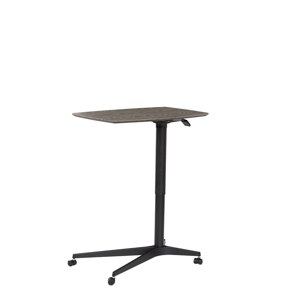 Grey 245 Mobile Lift Table with Black Base. Picture 3
