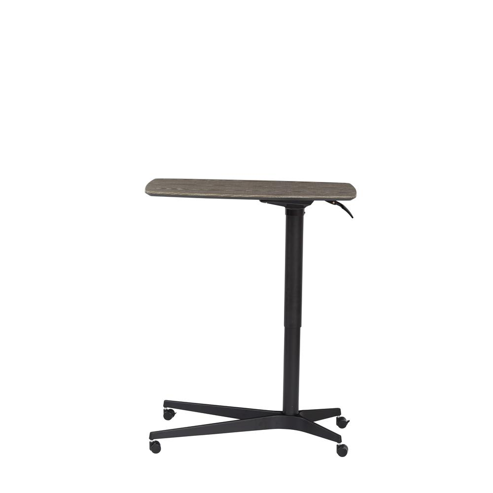 Grey 245 Mobile Lift Table with Black Base. Picture 4