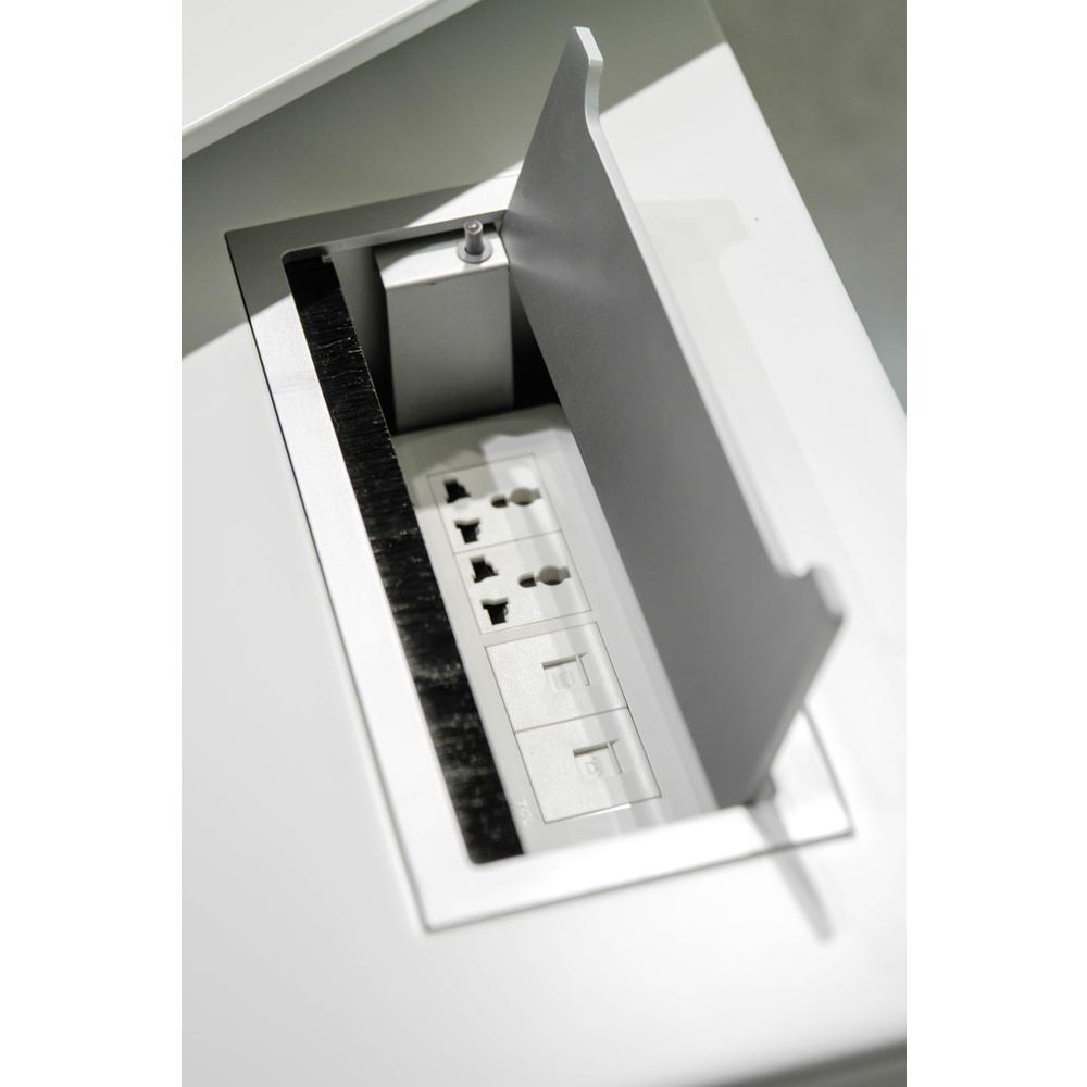 White 482 Exe.Desk with LSF Return. Picture 2