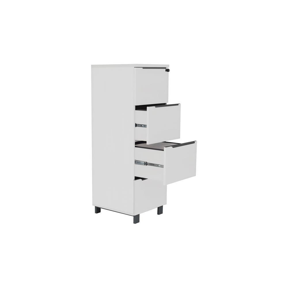 White K/19/20/4 4 Drw. File Cabinet. Picture 1