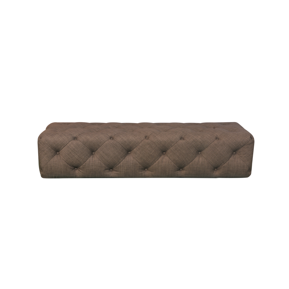 JASPER BENCH IN BROWN FABRIC. Picture 2