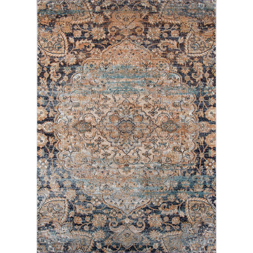 "Amelia Area Rug, Navy, 2'3"" X 7'6"" Runner. Picture 1"