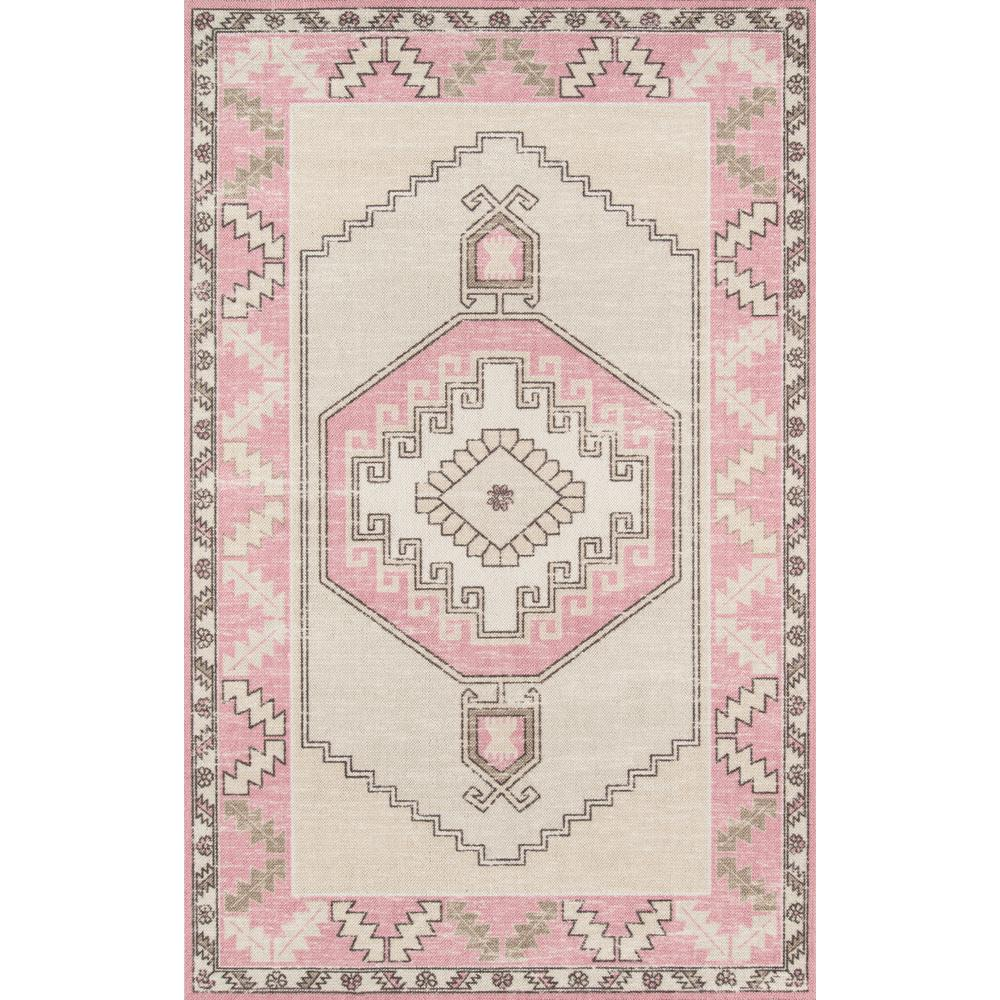 "Anatolia Area Rug, Pink, 2'3"" X 7'6"" Runner. Picture 1"