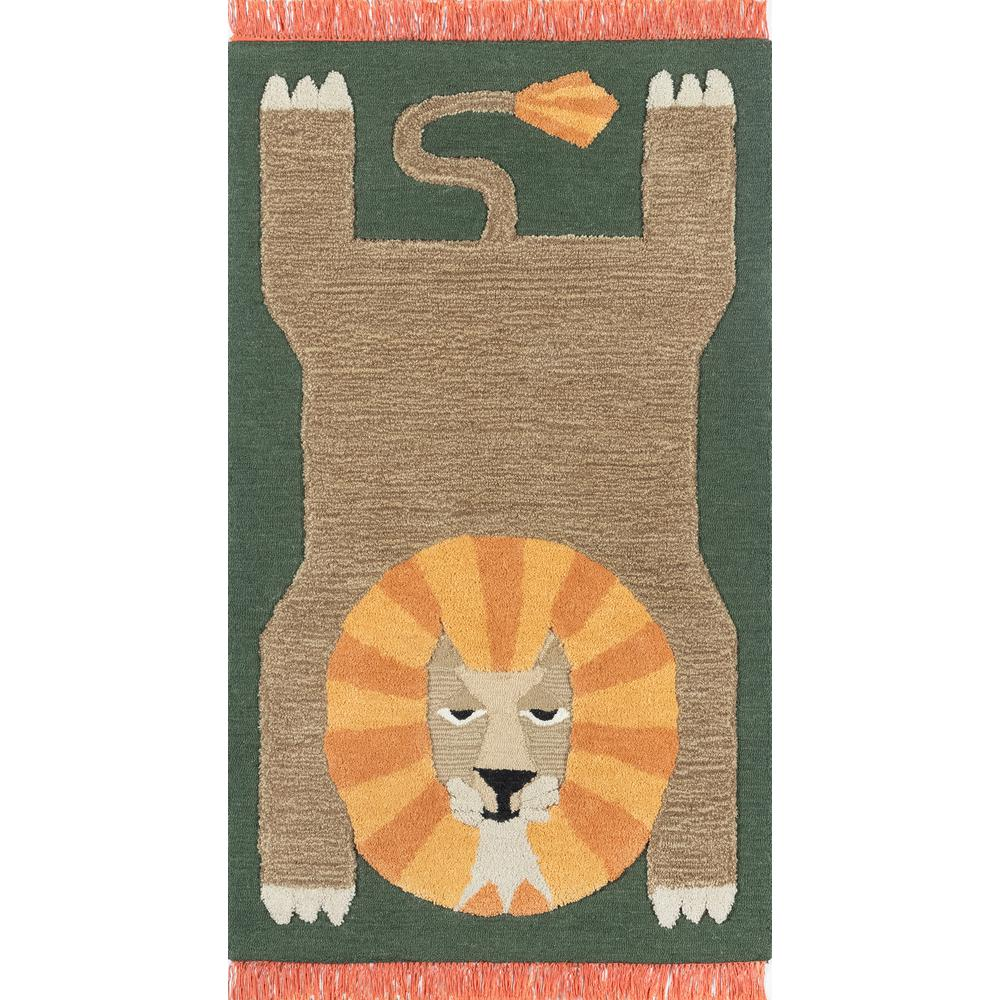 Atticus Area Rug, Green, 4' X 6'. Picture 1