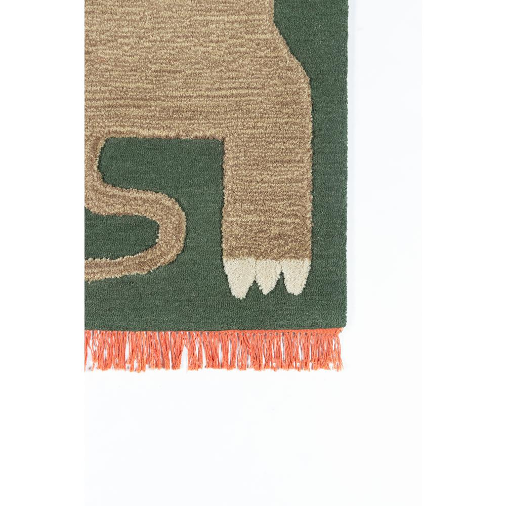 Atticus Area Rug, Green, 4' X 6'. Picture 2
