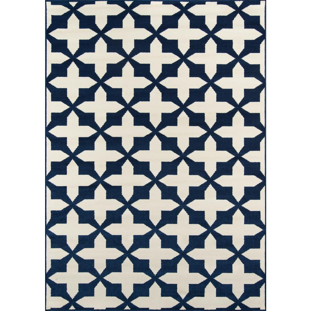 "Baja Area Rug, Navy, 2'3"" X 4'6"". Picture 1"