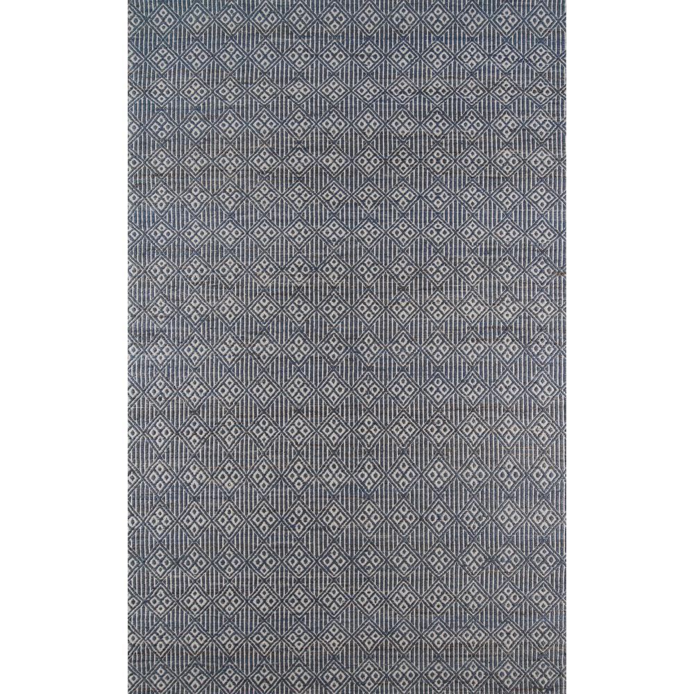 "Bengal Area Rug, Blue, 2'3"" X 8' Runner. Picture 1"