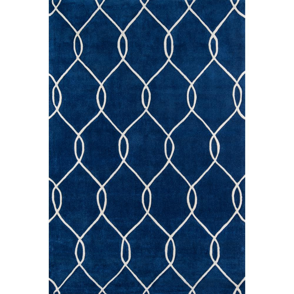 "Bliss Area Rug, Navy, 2'3"" X 8' Runner. Picture 1"