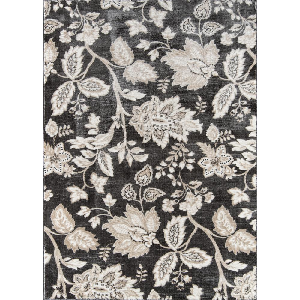 """Carroll Gardens Area Rug, Charcoal, 2'3"""" X 7'6"""" Runner. Picture 1"""