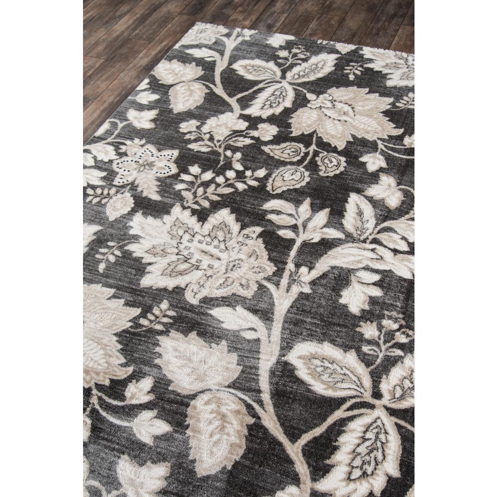 """Carroll Gardens Area Rug, Charcoal, 2'3"""" X 7'6"""" Runner. Picture 2"""
