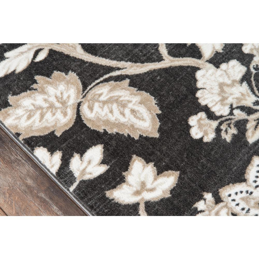 """Carroll Gardens Area Rug, Charcoal, 2'3"""" X 7'6"""" Runner. Picture 3"""