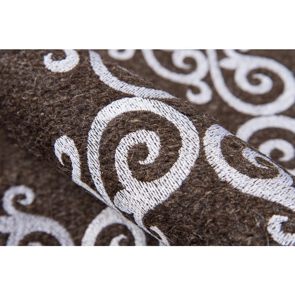 """Cielo Area Rug, Brown, 2'3"""" X 8' Runner. Picture 4"""
